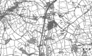 Old Map of Wormald Green, 1890