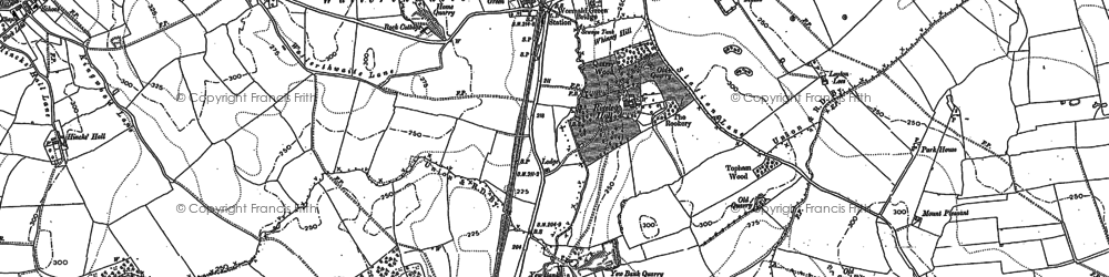 Old map of Wormald Green in 1890