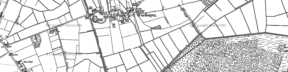 Old map of Wormegay in 1884