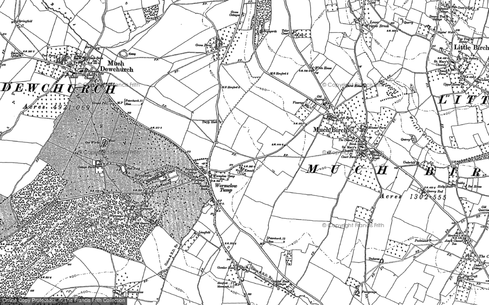 Map of Wormelow Tump, 1886 - 1887