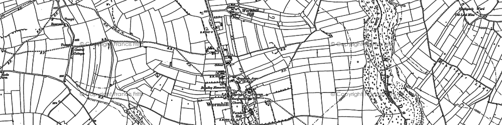 Old map of Wormhill in 1879