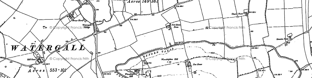 Old map of Wormleighton Hill in 1904