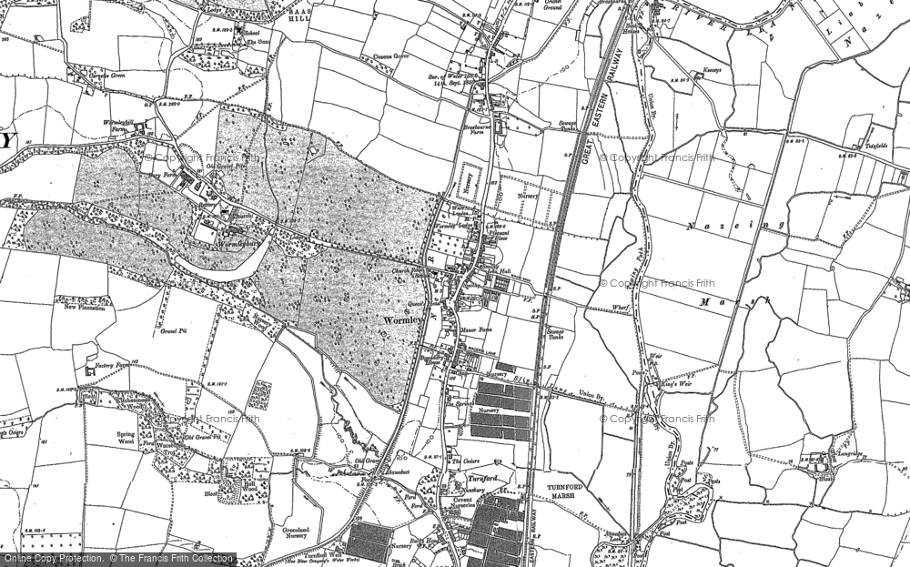 Old Map of Wormley, 1896 - 1915 in 1896