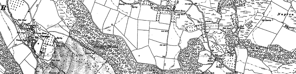 Old map of Wormsley Grange in 1886
