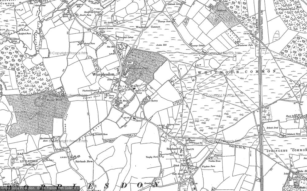 Map of Worplesdon, 1895