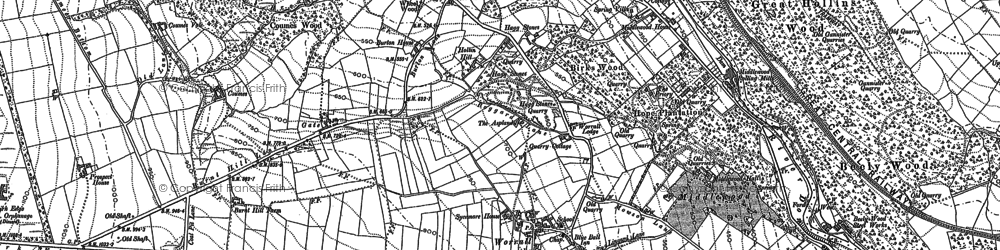Old map of Worrall in 1890