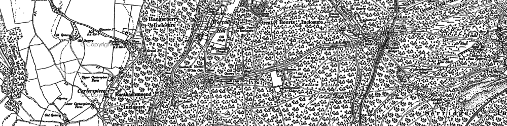 Old map of Worrall Hill in 1900