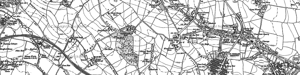 Old map of Worsbrough Common in 1851