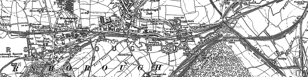 Old map of Worsbrough Dale in 1851