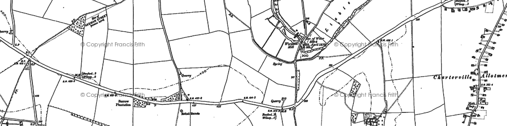 Old map of Worsham in 1898