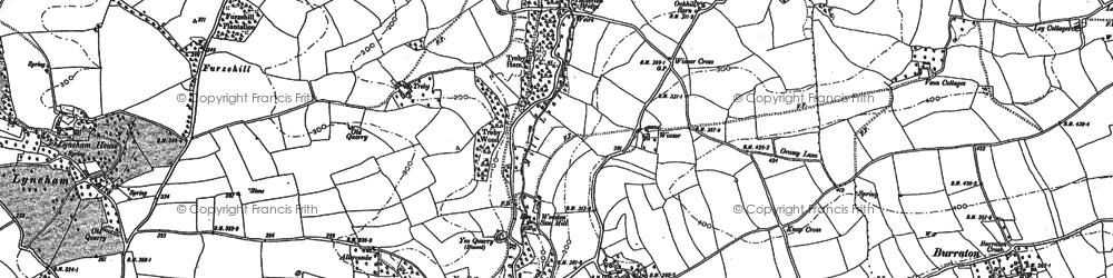 Old map of Worston in 1886