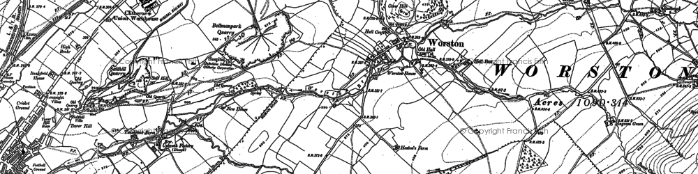 Old map of Barkerfield in 1910