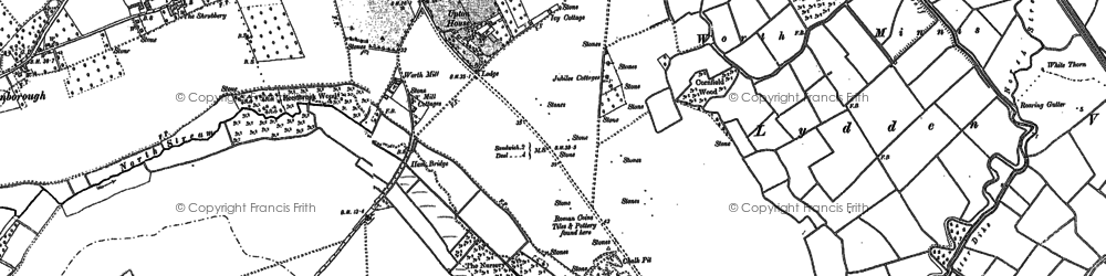 Old map of Worth in 1896
