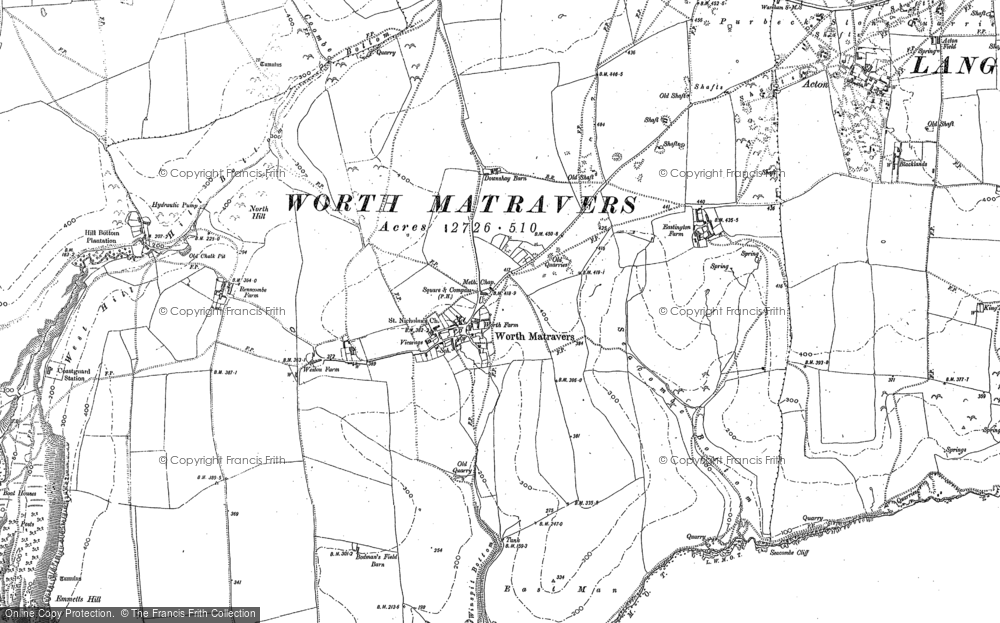 Map of Worth Matravers, 1900
