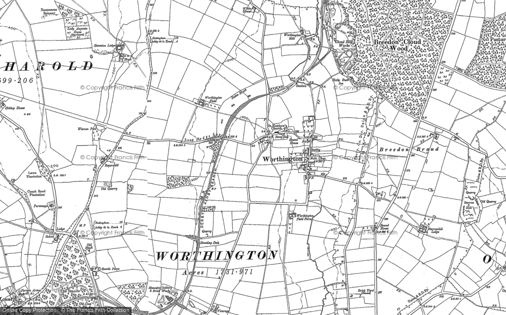 Old Map of Worthington, 1899 - 1901 in 1899