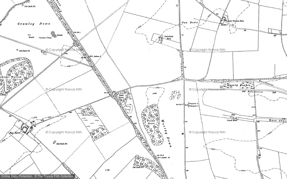 Map of Worthy Down, 1887