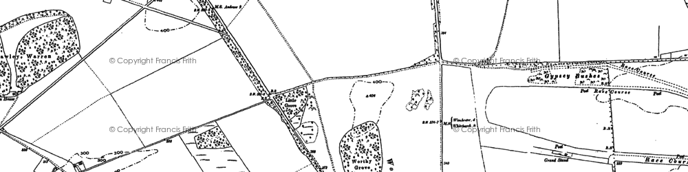 Old map of Worthy Down in 1887