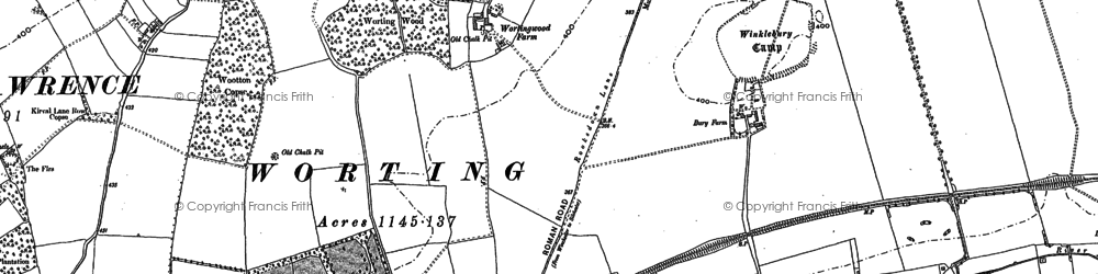Old map of Worting in 1894