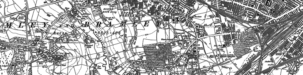 Old map of Wortley in 1847