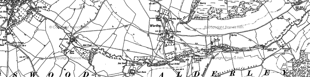 Old map of Wortley Hill in 1881