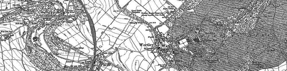 Old map of Wortley in 1891