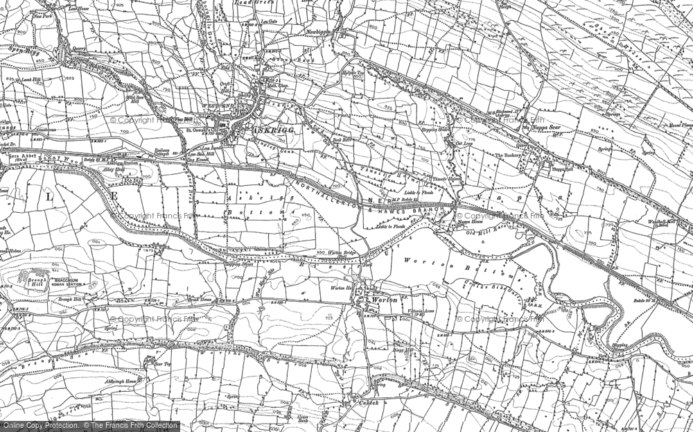 Old Map of Worton, 1892 in 1892