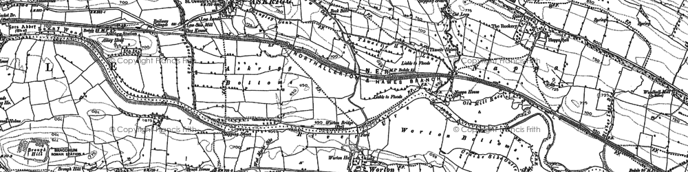 Old map of Worton in 1892
