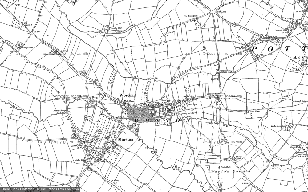 Map of Worton, 1899
