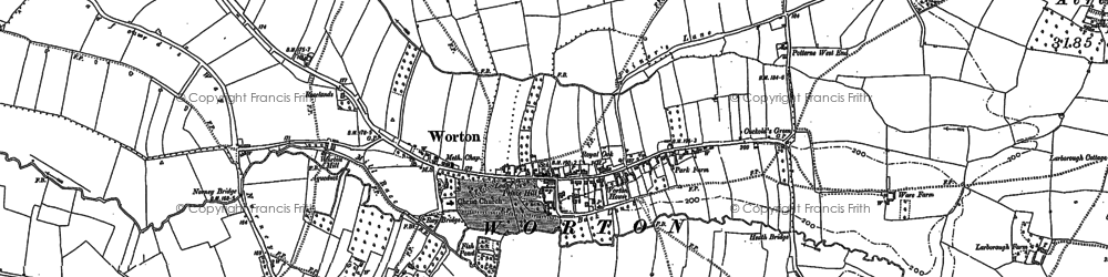 Old map of Worton in 1899