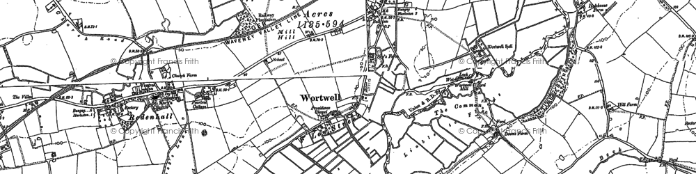 Old map of Wortwell in 1903