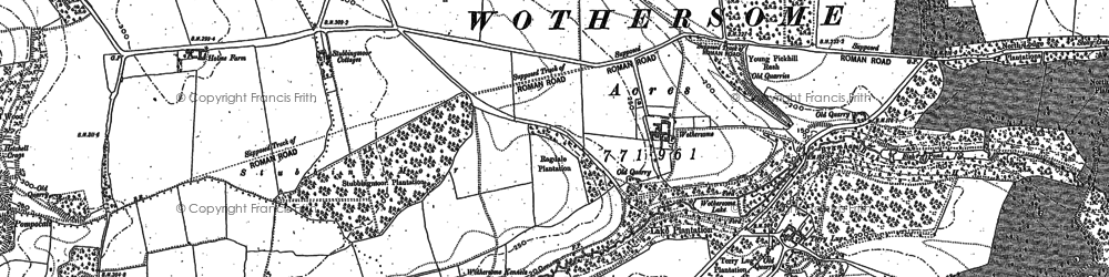 Old map of Wothersome in 1891