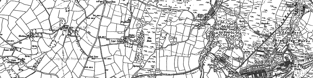 Old map of Wotter in 1884
