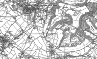 Old Map of Wotton-under-Edge, 1881