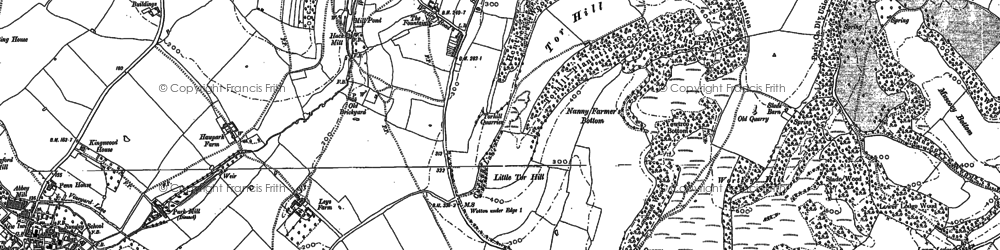Old map of Wotton-under-Edge in 1881