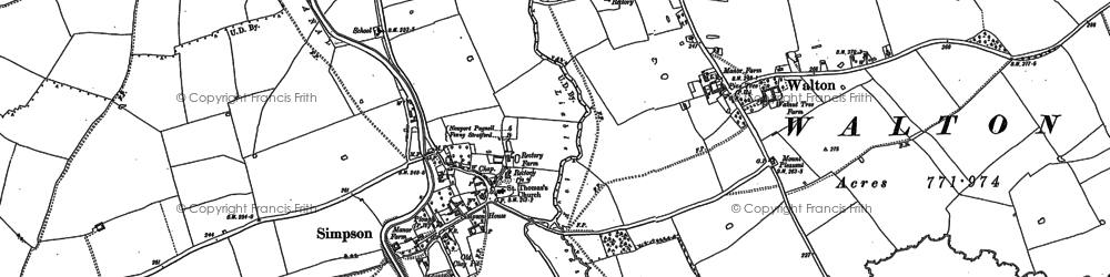 Old map of Woughton Park in 1924