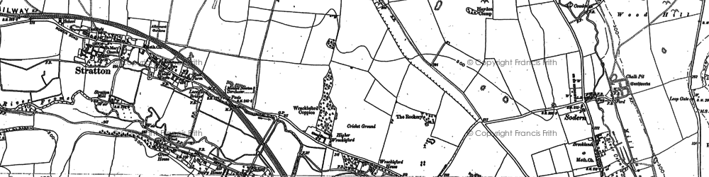 Old map of Wrackleford in 1886