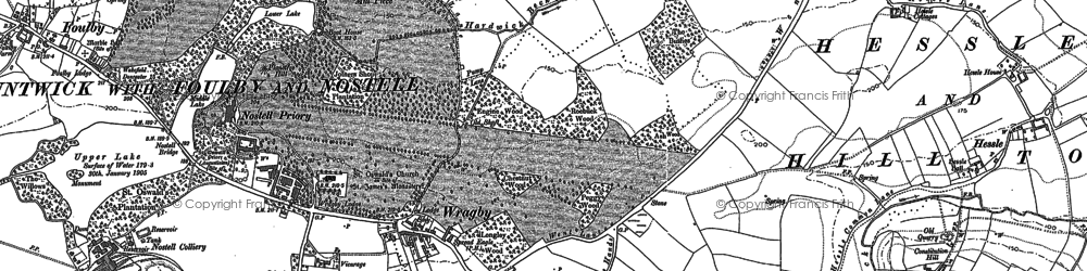 Old map of Wragby in 1860
