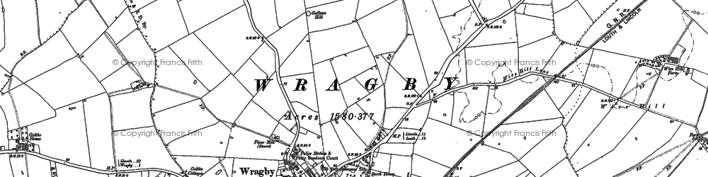 Old map of Wragby in 1886
