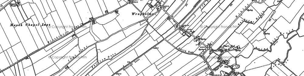 Old map of Wragholme in 1887