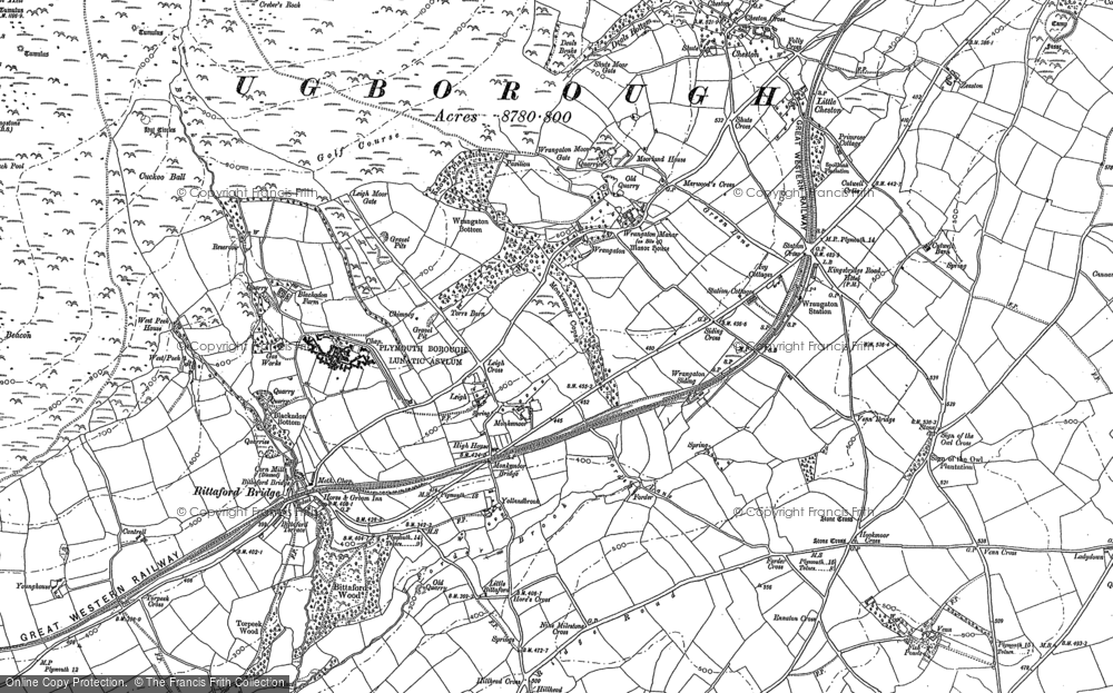 Old Map of Historic Map covering Zeaston in 1886