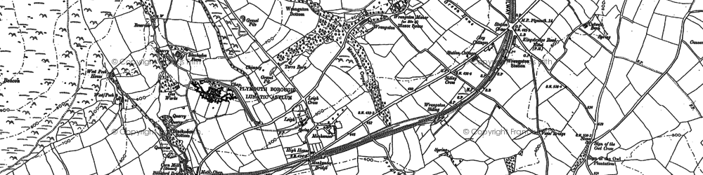 Old map of Zeaston in 1886