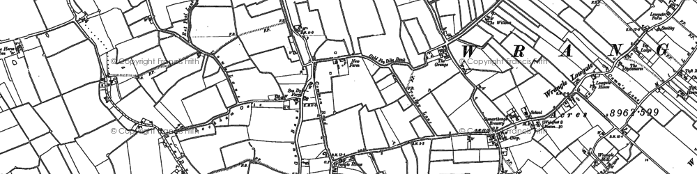 Old map of Leake Hurn's End in 1887