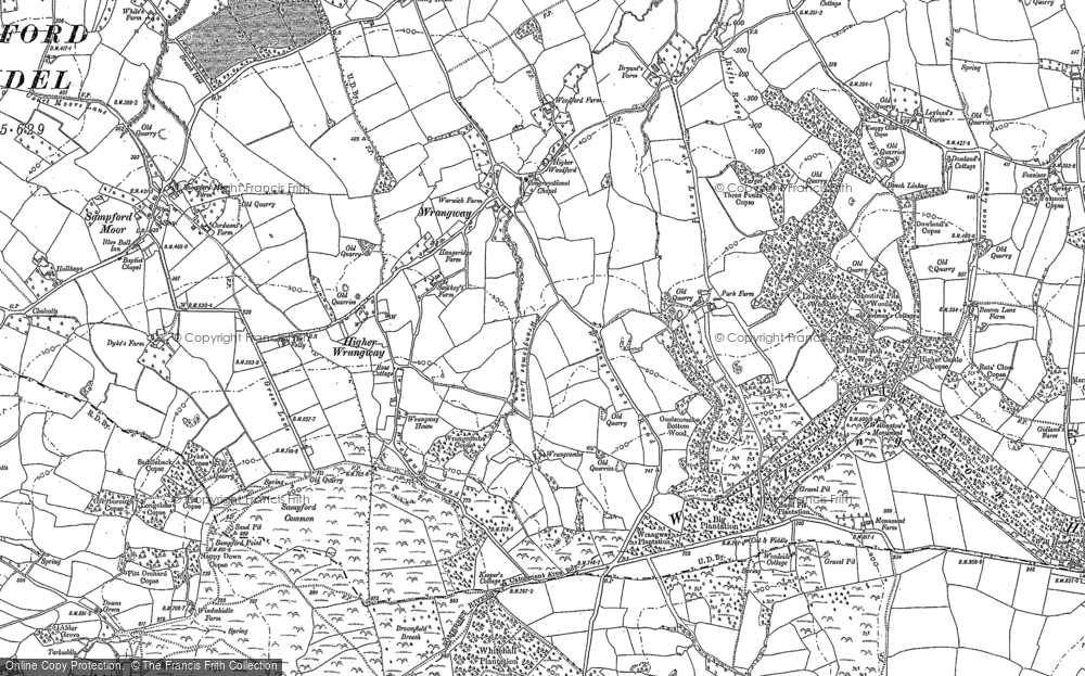 Old Map of Wrangway, 1903 in 1903