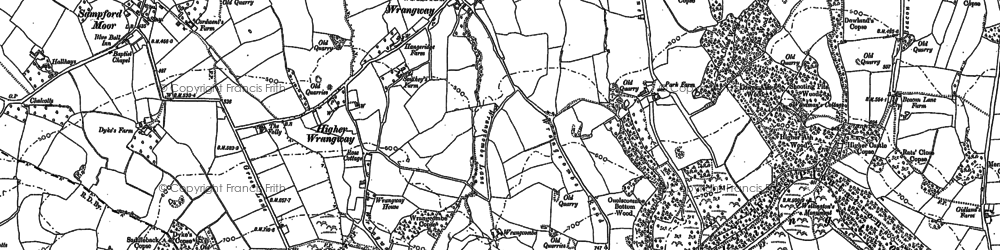 Old map of Wrangway in 1903