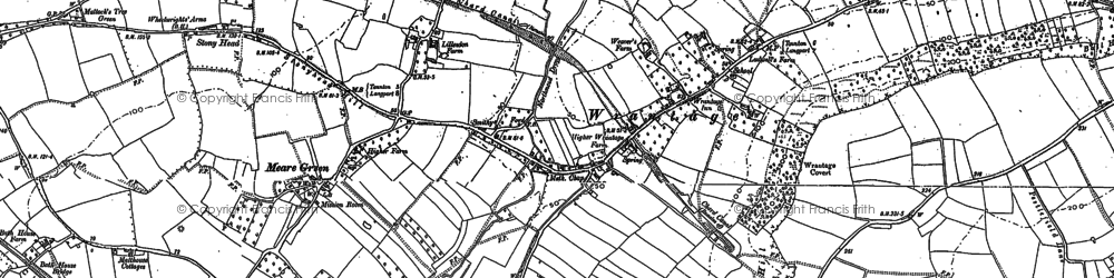 Old map of Wrantage in 1886