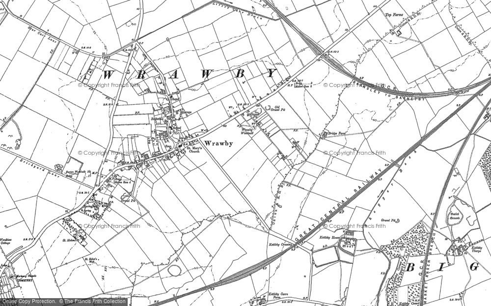 Map of Wrawby, 1882