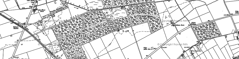 Old map of Wrawby Moor in 1886