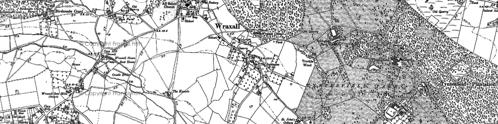 Old map of Wraxall Ho in 1883