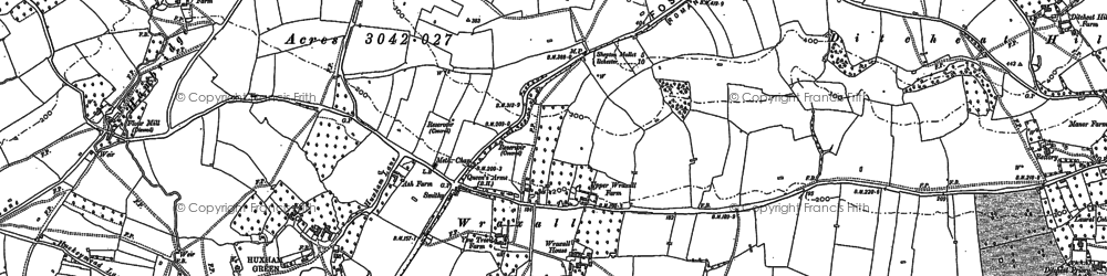 Old map of Wraxall in 1885