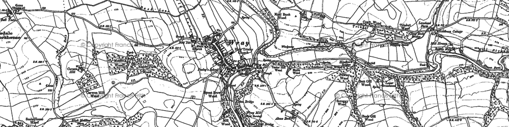 Old map of Wray in 1910